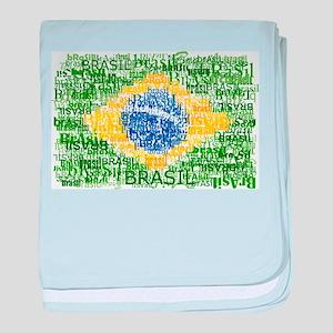 Textual Brasil baby blanket