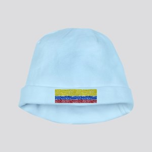 Textual Colombia baby hat