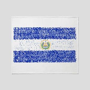 Textual El Salvador Throw Blanket