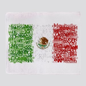 Textual Mexico Throw Blanket