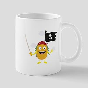 Pineapple Pirate with Flag Cyrdv Mugs