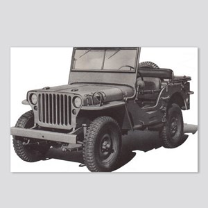 Army Jeep Postcards (Package of 8)