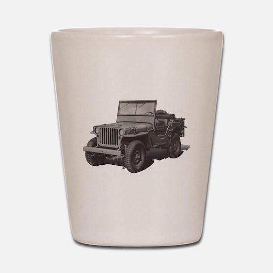 Army Jeep Shot Glass