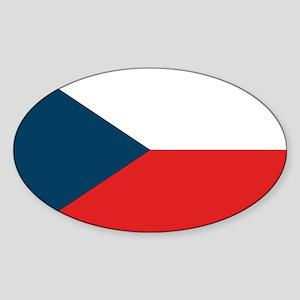 Flag of Czech Republic Oval Sticker