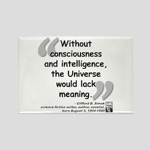 Simak Universe Quote Rectangle Magnet