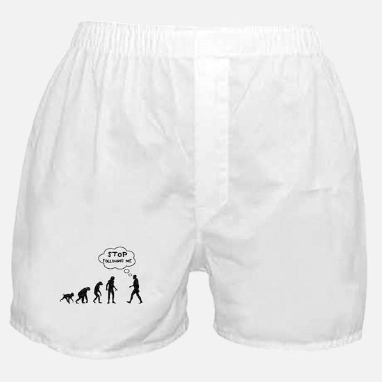 Stop Following Me Boxer Shorts