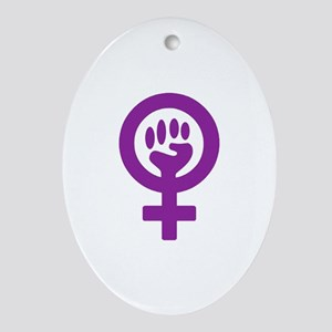 Femifist Ornament (Oval)