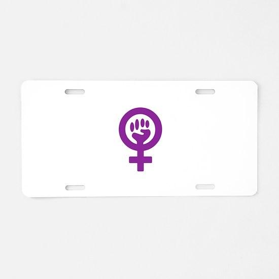 Femifist Aluminum License Plate