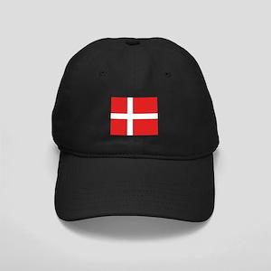 Denmark (Dannebrog) Flag Black Cap