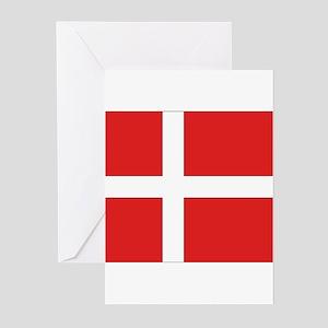 Denmark (Dannebrog) Flag Greeting Cards (Package o