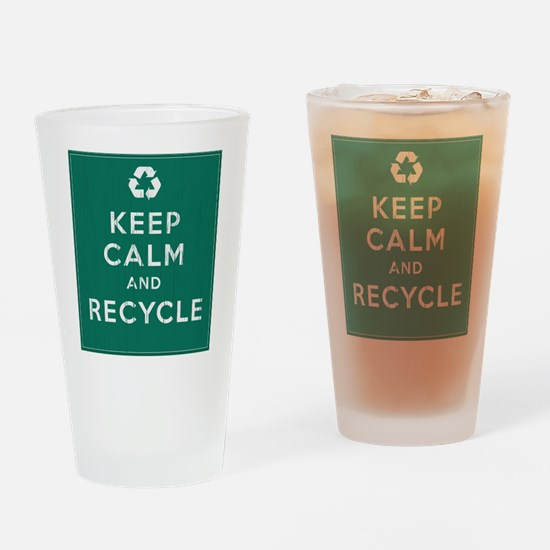 Keep Calm and Recycle Drinking Glass