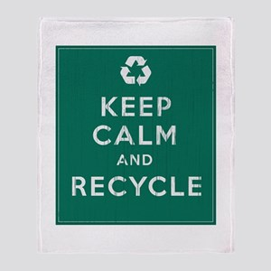 Keep Calm and Recycle Throw Blanket