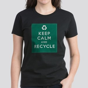 Keep Calm and Recycle Women's Dark T-Shirt