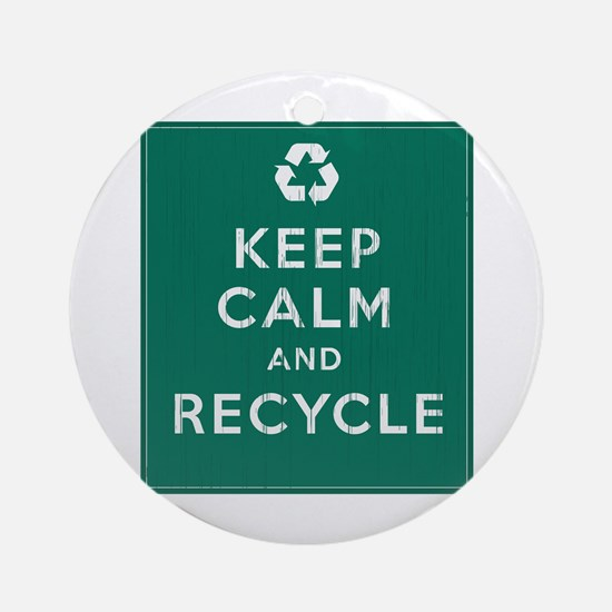 Keep Calm and Recycle Ornament (Round)