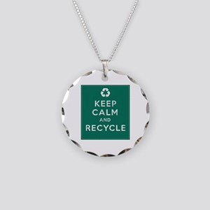 Keep Calm and Recycle Necklace Circle Charm