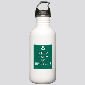 Keep Calm and Recycle Stainless Water Bottle 1.0L