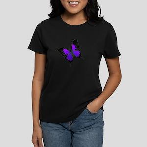 Purple Swallowtail Women's Dark T-Shirt
