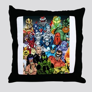 Heroes of The Infiniverse Throw Pillow