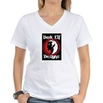 Dark Elf Designs Women's V-Neck T-Shirt