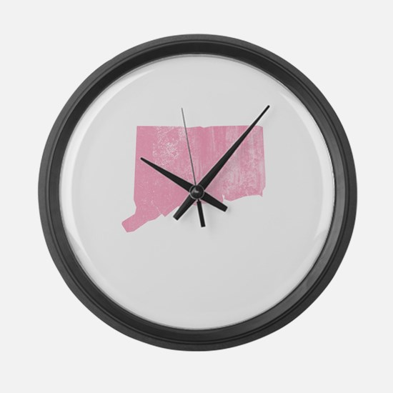 Vintage Grunge Pink Connectic Large Wall Clock