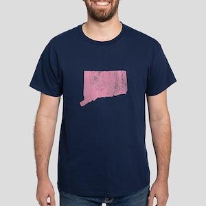Vintage Grunge Pink Connectic Dark T-Shirt