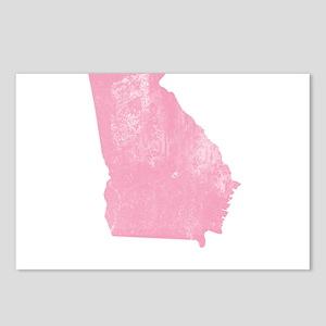 Vintage Grunge Pink Georgia Postcards (Package of