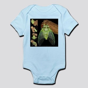 Metamorphosis of Cicadas Infant Bodysuit