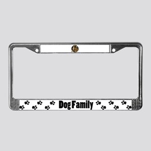 Pug in tie License Plate Frame