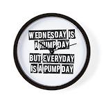 Pump day Wall Clock