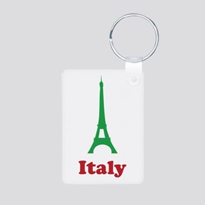 Italy eiffel tower Aluminum Photo Keychain