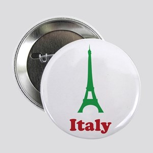 """Italy eiffel tower 2.25"""" Button"""
