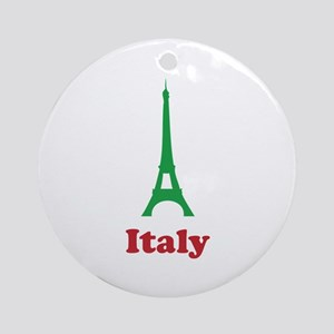 Italy eiffel tower Ornament (Round)