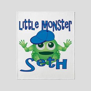 Little Monster Seth Throw Blanket