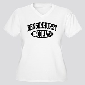 Bensonhurst Brooklyn Women's Plus Size V-Neck T-Sh