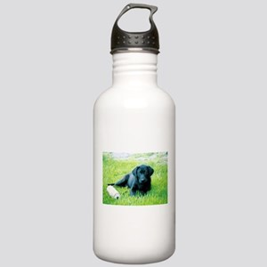 Black Lab Puppy Stainless Water Bottle 1.0L