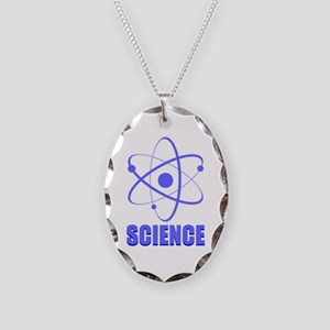Science Necklace Oval Charm