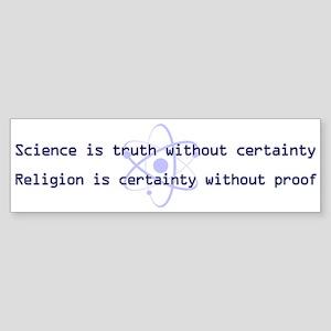 Science Is Truth Sticker (Bumper)