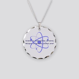 Science Is Truth Necklace Circle Charm