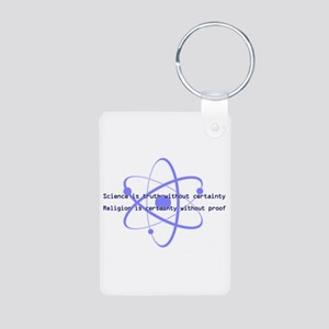 Science Is Truth Aluminum Photo Keychain