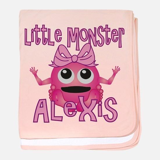 Little Monster Alexis baby blanket