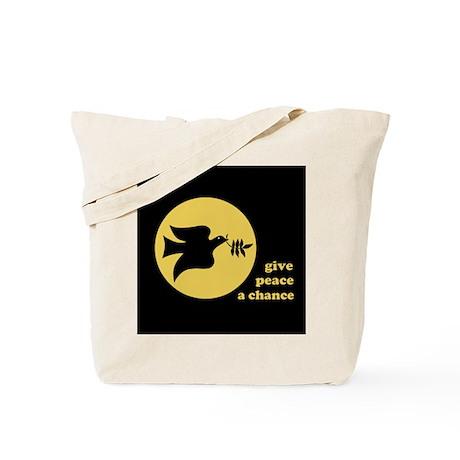 Peace Moon Gold Tote Bag