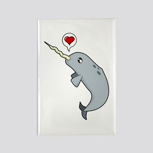 Narwhal Love Rectangle Magnet