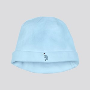 Narwhal Love baby hat