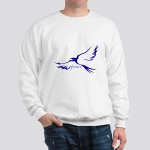 Winged Peace Blue Sweatshirt