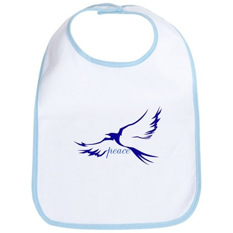Winged Peace Blue Bib