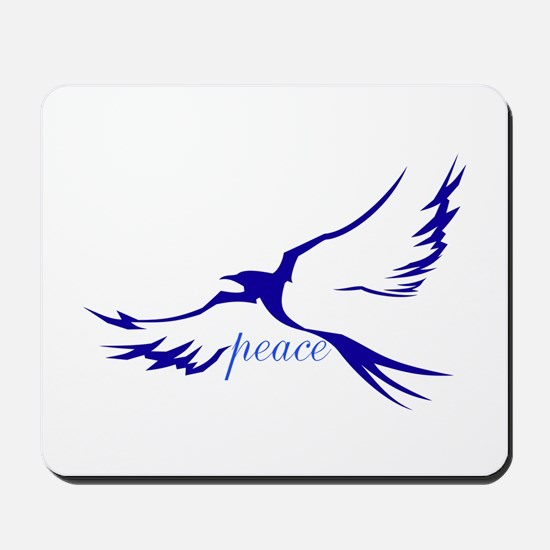 Winged Peace Blue Mousepad
