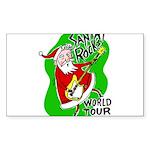Santa Rocks - World Tour Sticker (Rectangle)