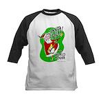Santa Rocks - World Tour Kids Baseball Jersey
