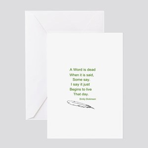 Word is Dead Greeting Card
