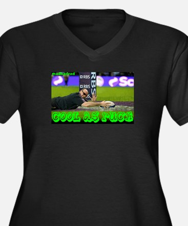 Cute Rugby world cup Women's Plus Size V-Neck Dark T-Shirt